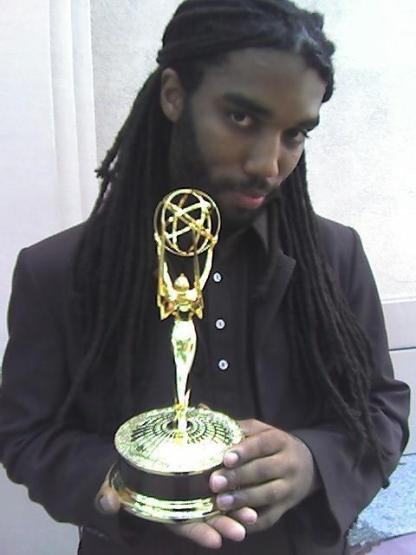 Yeah, that's me with my Emmy.