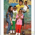 Vybz Kartel posing with his family during a visit in prison.