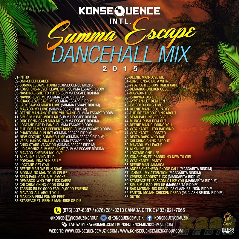 dancehall summa escape cd reggae side intl mixtape