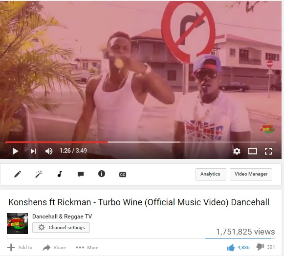 Konshens ft Rickman - Turbo Wine promoted for Rickman