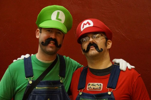 Halloween Costumes: Super Mario Bros. at the arena.