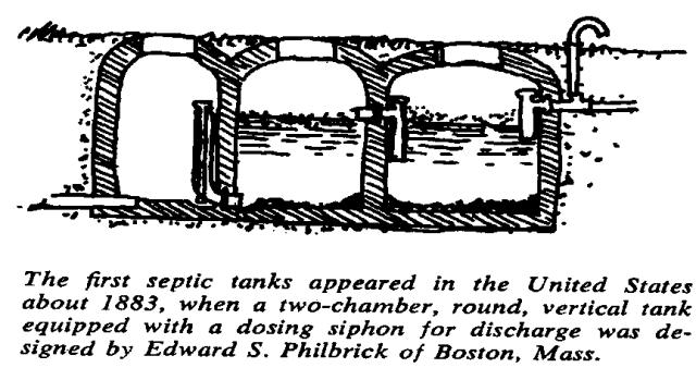 Early USA septic tank