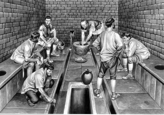 Roman toilet
