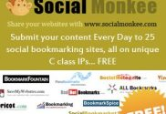 Submit your content Every Day to 25 social bookmarking sites, all on unique C class IPs... FREE.