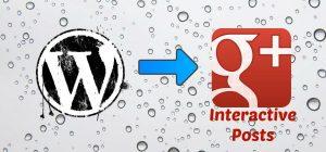 g+ interactive posts