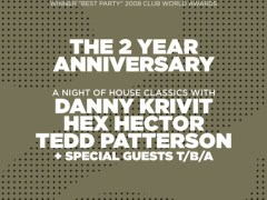 6/26 – Dance.Here.Now. 2nd Anniversary w/Danny Krivit, Hex Hector & Tedd Patterson – Cielo, New York