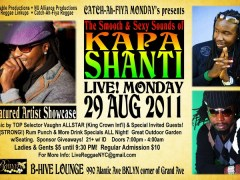 [MON.29.AUG] The Smooth & Sexy Sounds of KAPA SHANTI @ B-Hive Lounge – Brooklyn, Ny