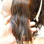 縮毛矯正での応力緩和効果
