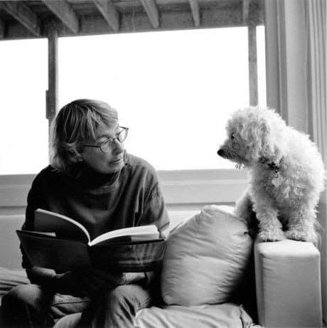 Mary Oliver with Percy