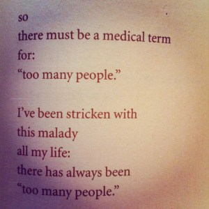 Charles Bukowski - too many people