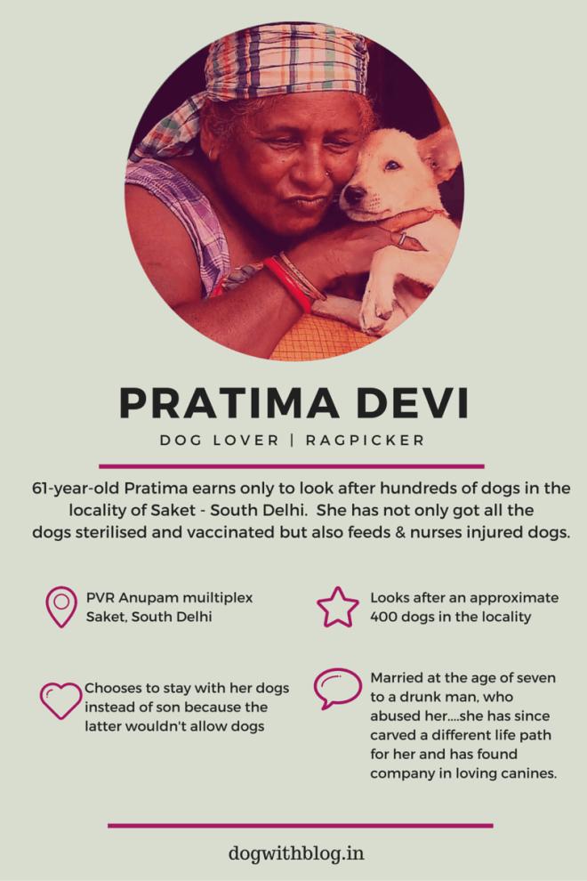 Delhi woman feeds stray dogs