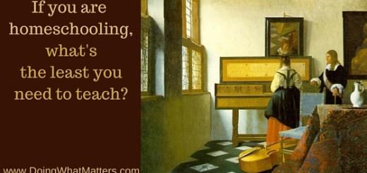 Homeschool basics. The Music Lesson by Johannes (Jan) Vermeer c. 1662-65