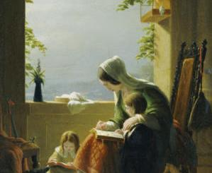 Mother's Lessons, Amalfi, by Robert Walter Weir