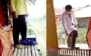 S_menggunakan baju dan alas kaki khusus dapat meminimalkan penularan penyakit