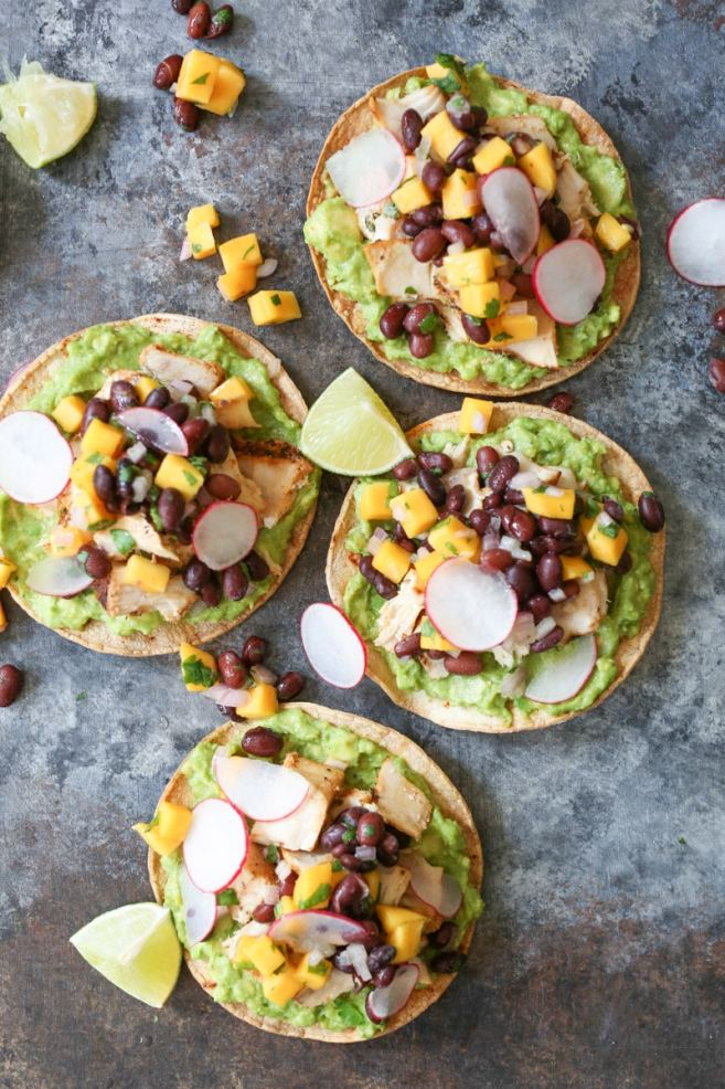 Grilled Tuna Tostadas with Black Bean-Mango Salsa ...