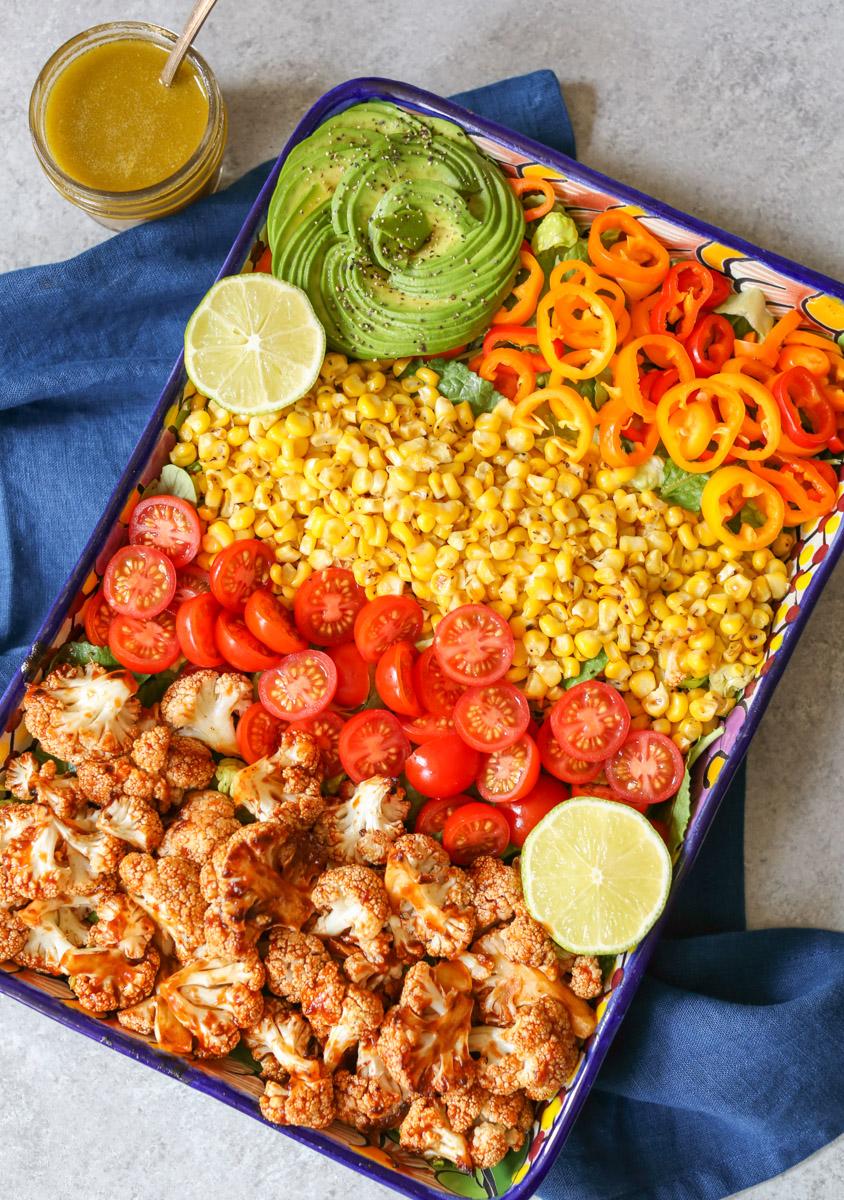 Roasted BBQ Cauliflower Salad