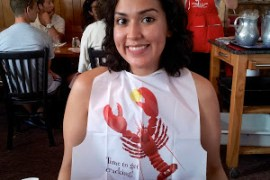 Jessica-Flores-Eating-Lobster