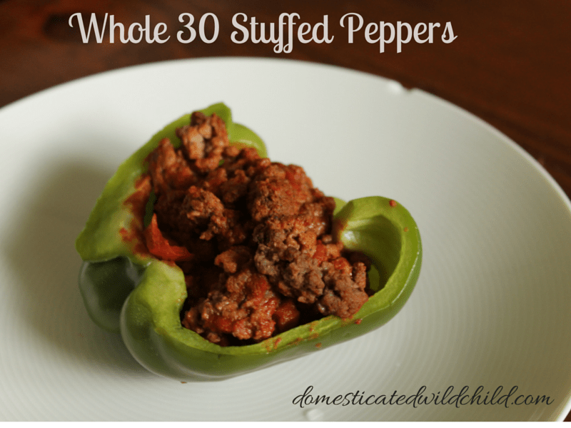 Whole 30 Stuffed Peppers