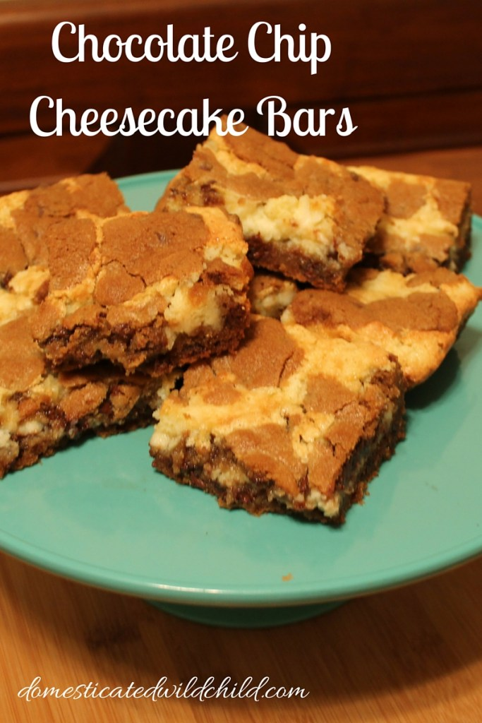 Chocolate ChipCheesecake Bars
