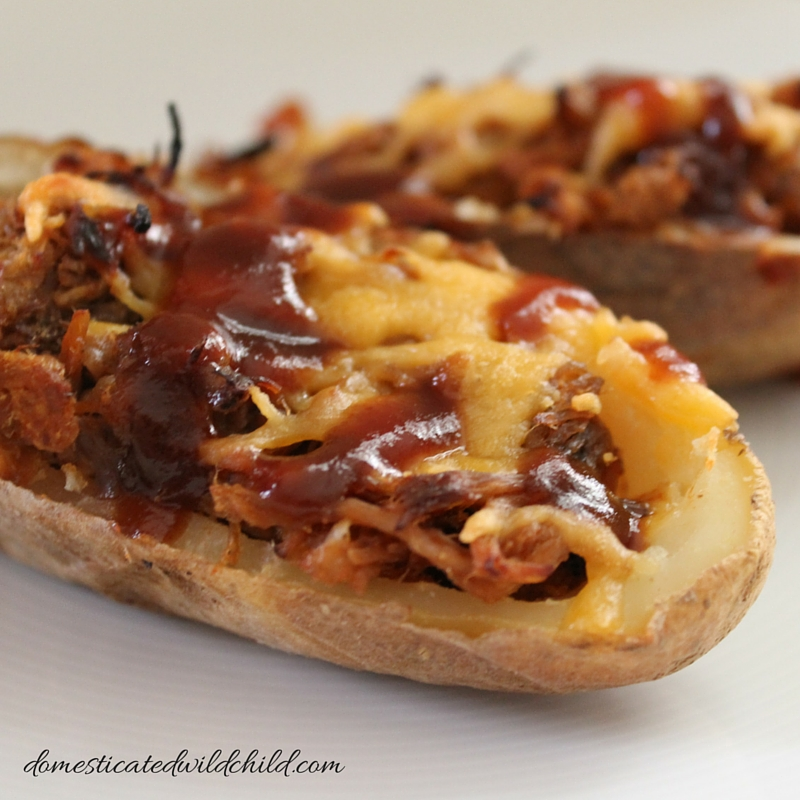 Pulled Pork Potato Skins