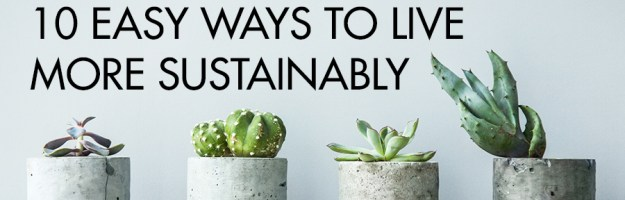 10 Ways to Live More Sustainably