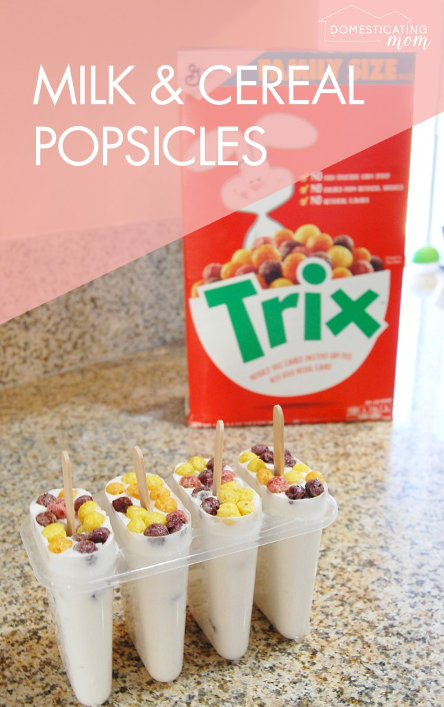 Creamy milk and cereal popsicle recipe