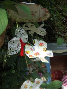 Cupcake case butterflies