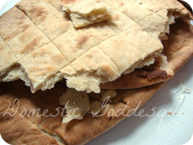 the finished unleavened bread