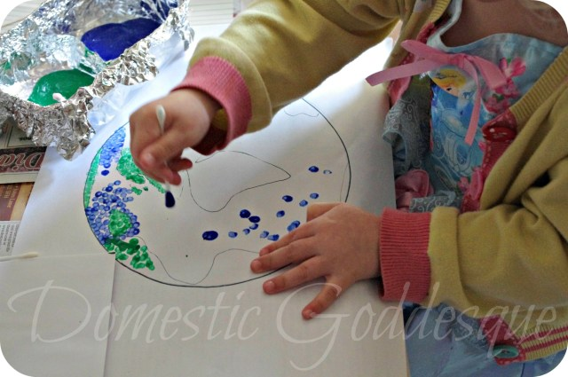 painting with cotton buds