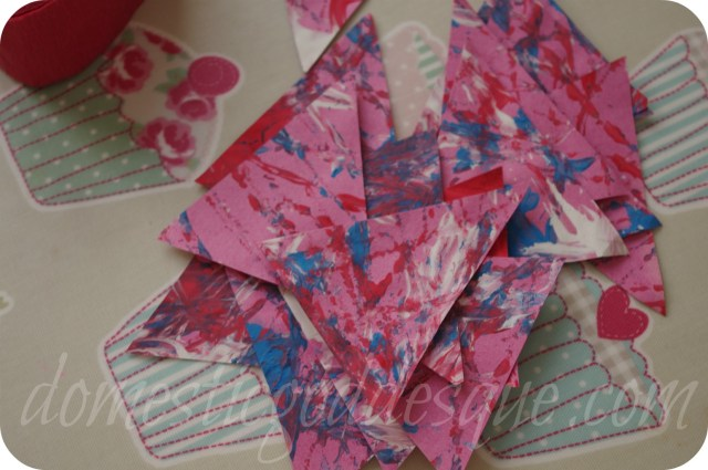paper bunting for Queen Jubilee Olympics