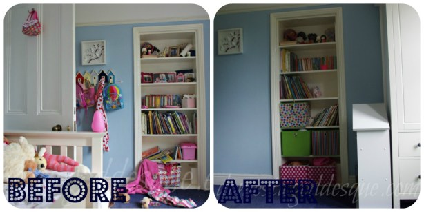 Room storage before after
