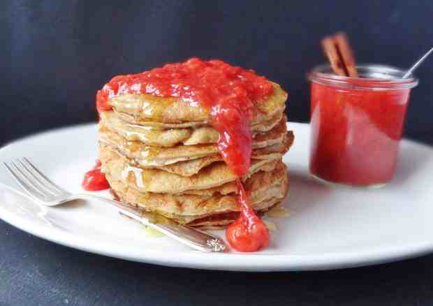 high protein coconut and almond pancakes