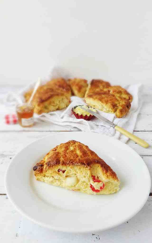 marzipan cherry scones - Domestic Gothess