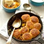 Mini peach cobbler - serves two people - Domestic Gothess