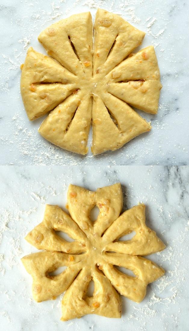 orange anise snowflake bread