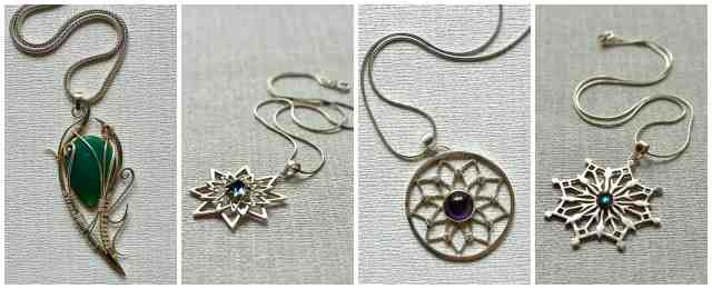 Handmade silver jewellery by Hannah Hossack-Lodge