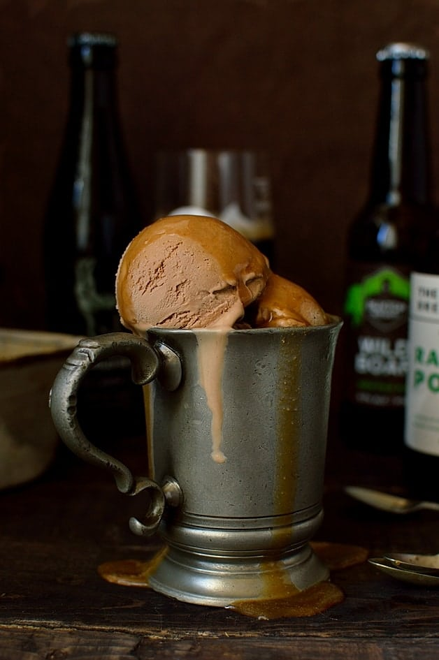 ... chocolate porter (or stout) beer ice cream with porter caramel sauce