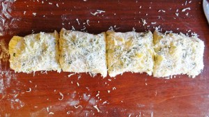 garlic cheese bread process