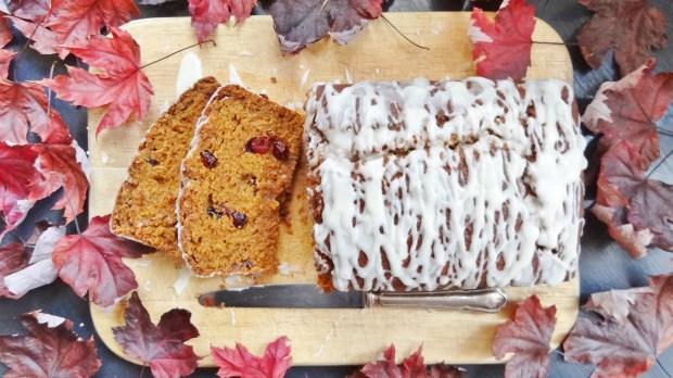 cranberry pumpkin loaf cake