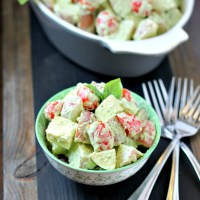 Creamy Pesto Caprese Potato Salad with Organic Choice