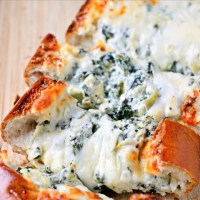 Stuffed Spinach & Artichoke Cheese Bread