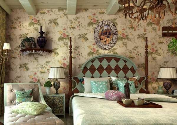 American-rural-retro-wallpaper-for-bedroom