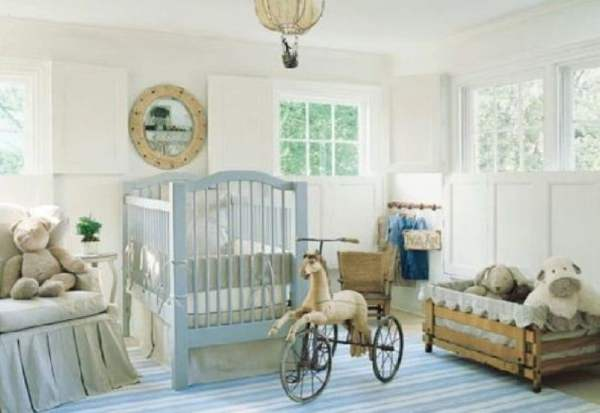 baby-nursery-decoration-ideas-good-boy-baby-nursery-room-decoration-using-light-blue-wood-baby-crib-including-light-blue-stripe-rug-in-bedroom-and-cream-baby-bed-valance-incredible-ideas-for-ba