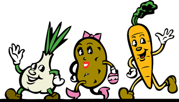 food-fruit-onion-plants-potato-cartoon-free