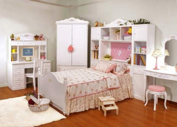 Pure-White-Color-Girls-Bedroom-Furniture-Kids-Desk-With-Computer-888x637