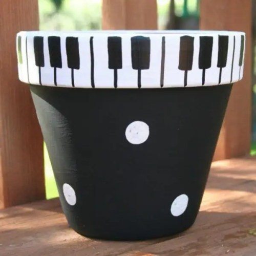 decorative-flower-pots-ideas-Piano