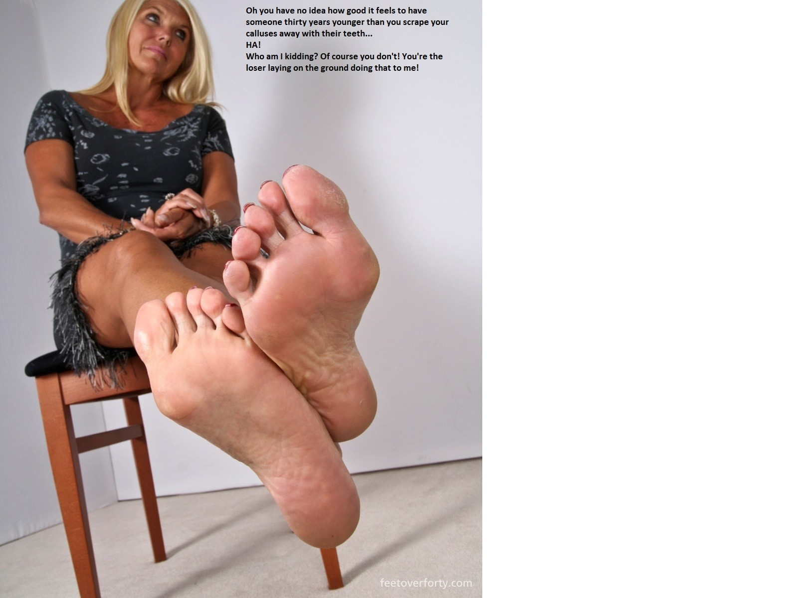 Domination foot mistress