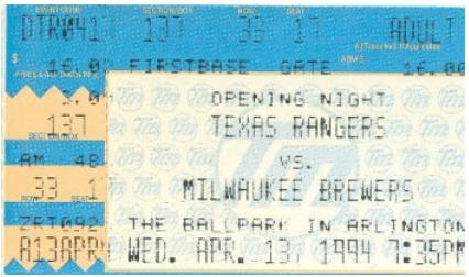 1-Ballpark at Arlington ticket 1