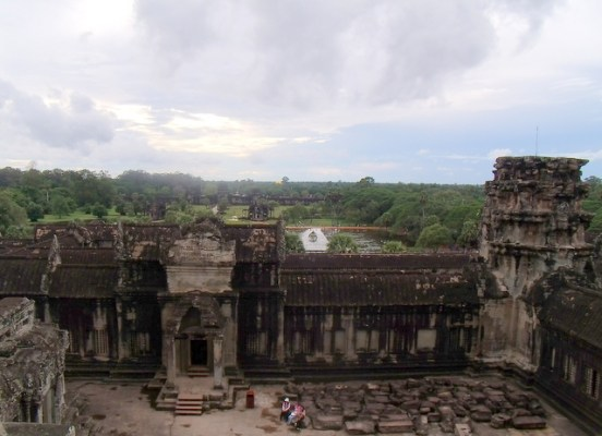 The view from one of the levels of Angkor Wat
