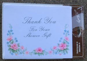 Shower Gift Thank You Notes